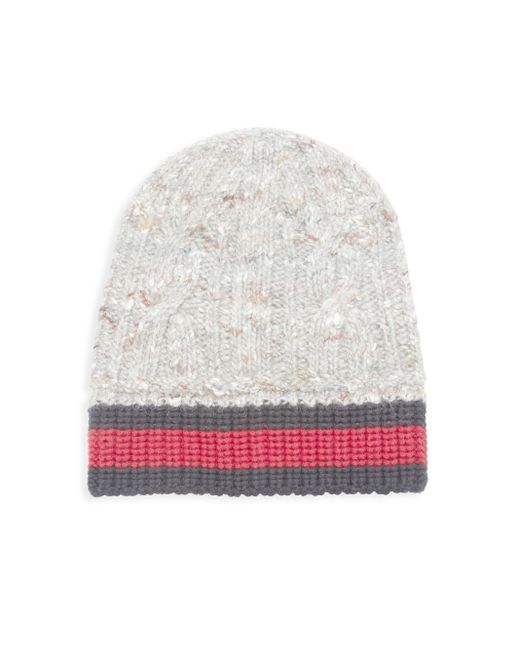 Gucci | White Wool, Alpaca & Silk Blend Cable Knit Hat | Lyst