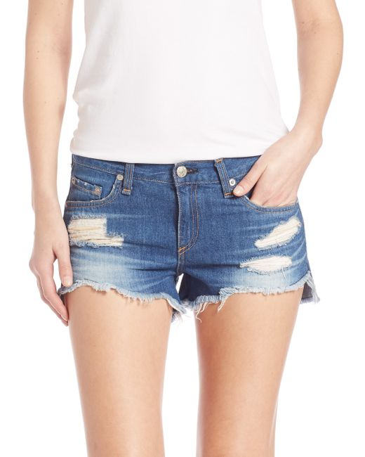 Distressed Denim Cutoffs. 3 Colors. QUICK VIEW. $ Distressed Button-Fly Denim Shorts. WEB EXCLUSIVE. QUICK VIEW. $ Frayed Pull-Ring Denim Shorts A pair of distressed denim shorts featuring five QUICK VIEW Distressed Denim Cutoffs.