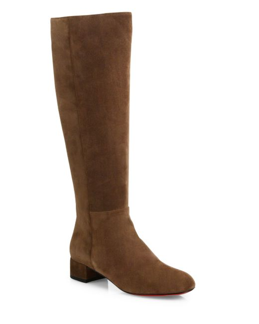 Christian Louboutin | Brown Liliboot 30 Suede Knee-high Boots | Lyst