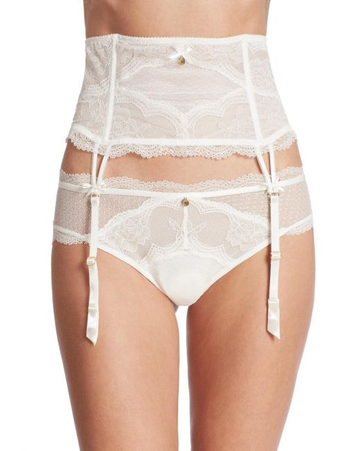 Chantelle | White Presage Lace Garter Belt | Lyst