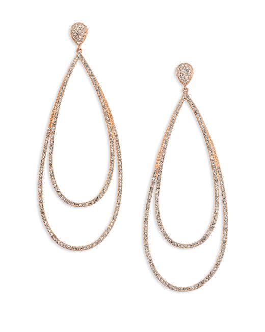 Adriana Orsini | Metallic Rose Double Drop Earrings | Lyst