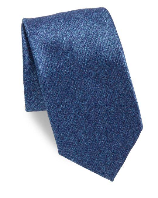 Charvet   Blue Plain Long Silk Tie for Men   Lyst