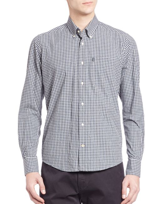 Barbour | Blue Gingham Cotton Shirt for Men | Lyst