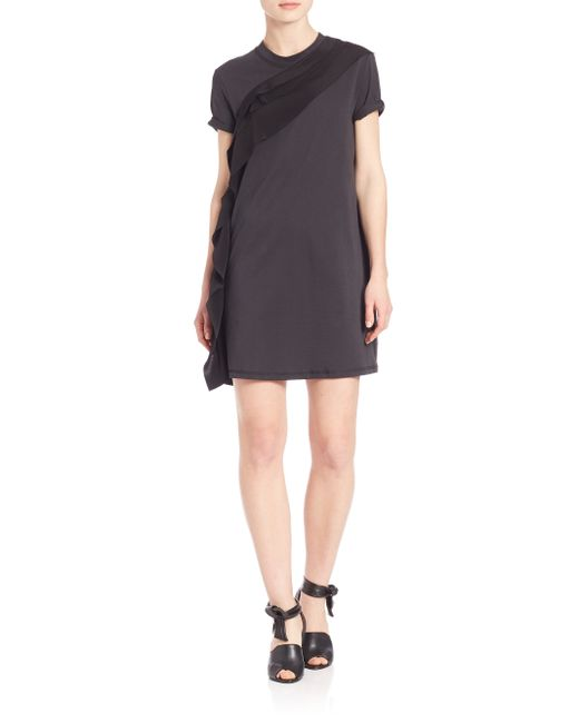 3.1 Phillip Lim | Black Zip Casual Dress | Lyst