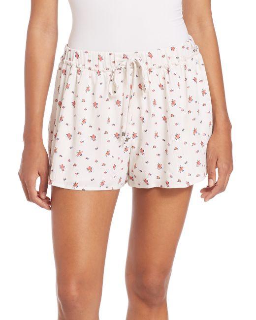 Splendid | Black Primrose Ditsy Floral Shorts | Lyst