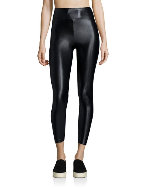 Koral | Black Lustrous Cropped Leggings | Lyst