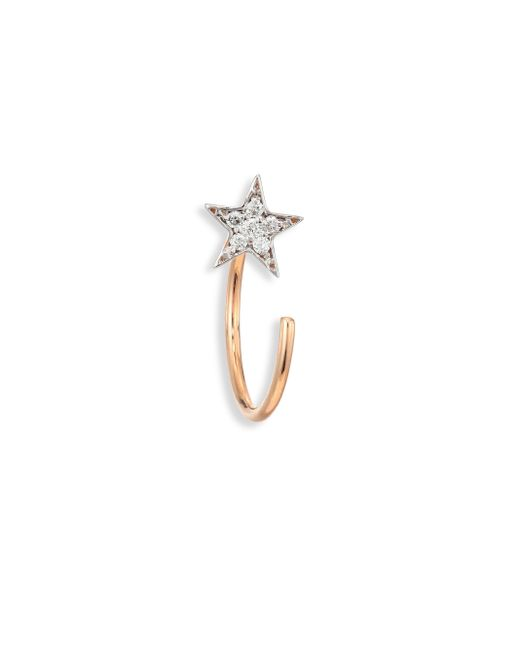Kismet by Milka | Metallic Star Diamond & 14k Rose Gold Single Reverse Hook Earrings | Lyst