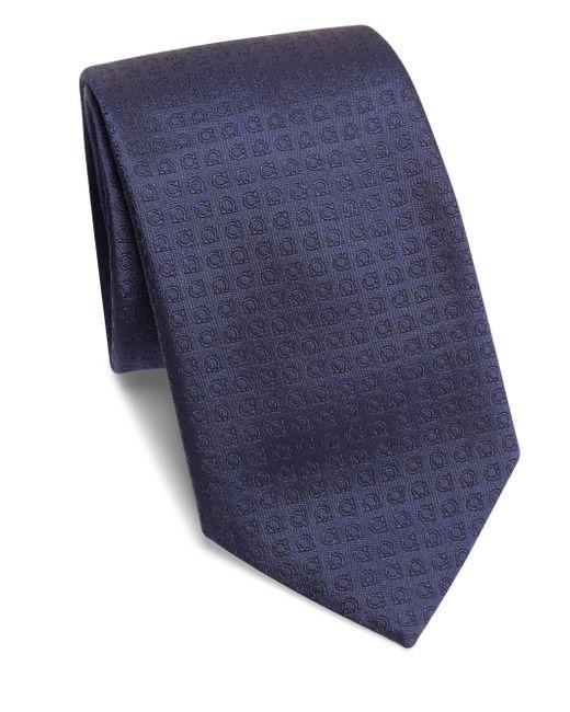 Ferragamo | Blue Gancini Silk Tie for Men | Lyst