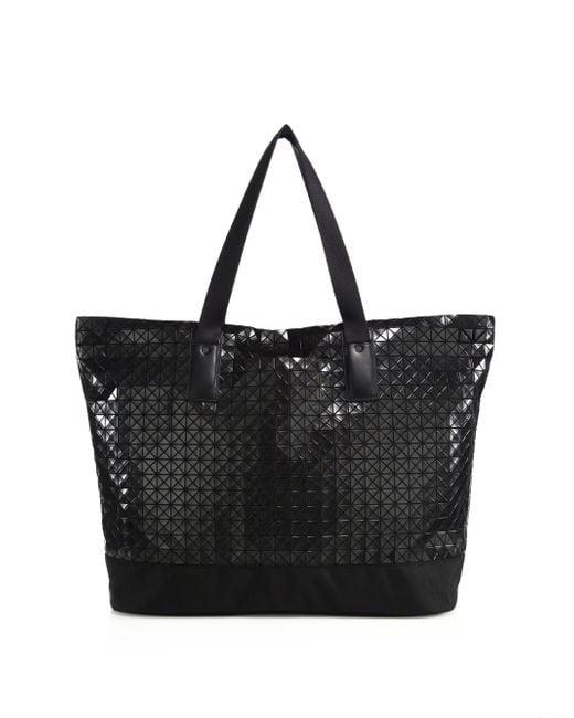 Bao Bao Issey Miyake   Black Geometric Panel Weekender Bag   Lyst