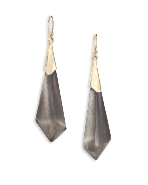 Alexis Bittar   Gray Faceted Lucite Drop Earrings   Lyst