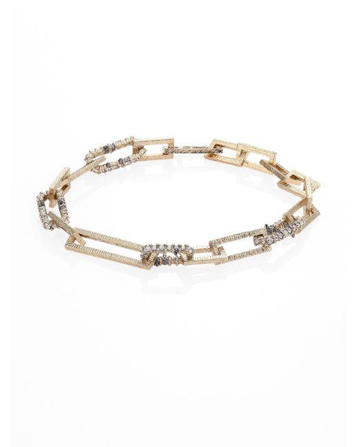 Alexis Bittar   Metallic Crystal-encrusted Soft Link Bracelet   Lyst