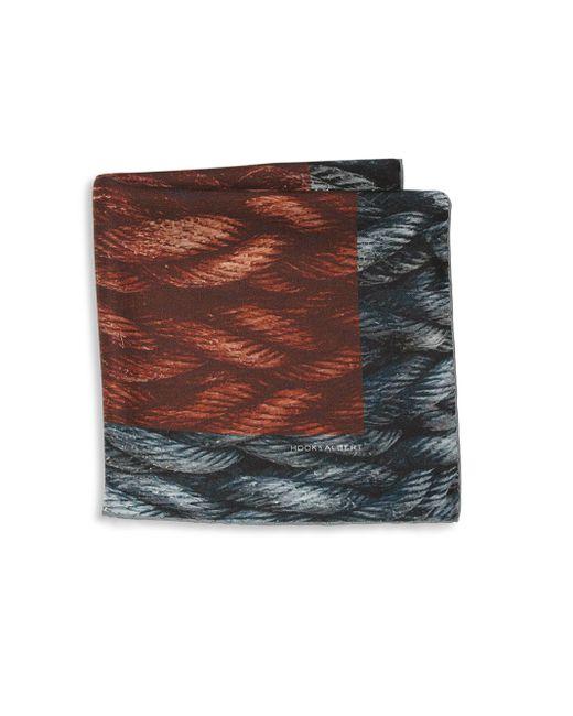 Hook + Albert | Multicolor Mystic Rope Sling Silk Pocket Square | Lyst