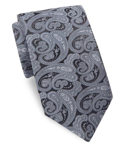 Ike Behar   Gray Persian Nights Silk Tie for Men   Lyst