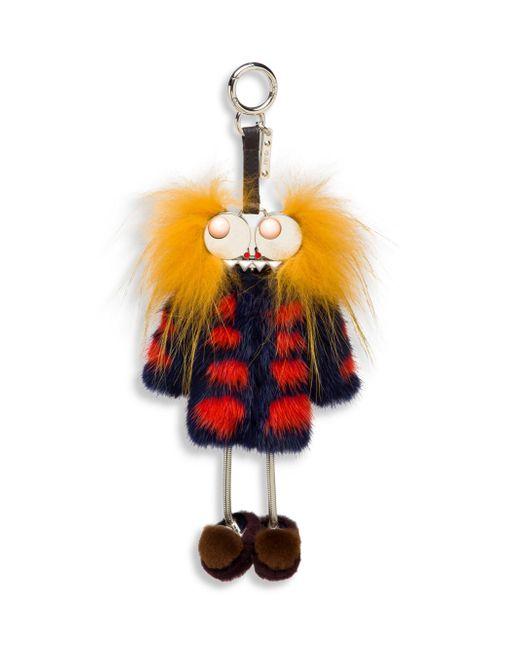 Fendi | Multicolor Hypnoteyes Fur Key Charm | Lyst