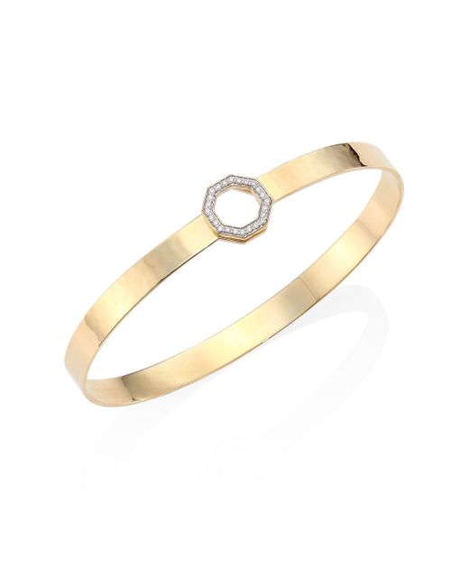 Phillips House | Metallic Hero Diamond & 14k Yellow Gold Bangle Bracelet | Lyst