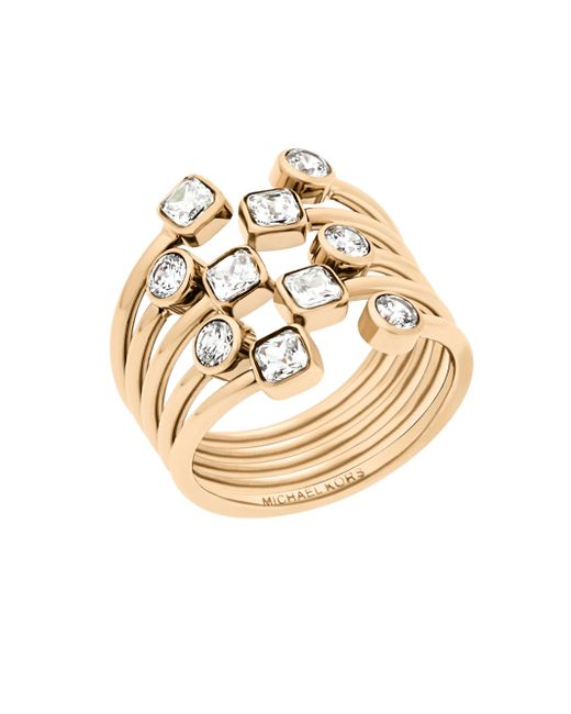 Michael Kors | Metallic Modern Brilliance Crystal Ring/goldtone | Lyst