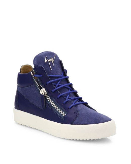 Giuseppe Zanotti   Multicolor Leather & Suede High-top Sneakers for Men   Lyst