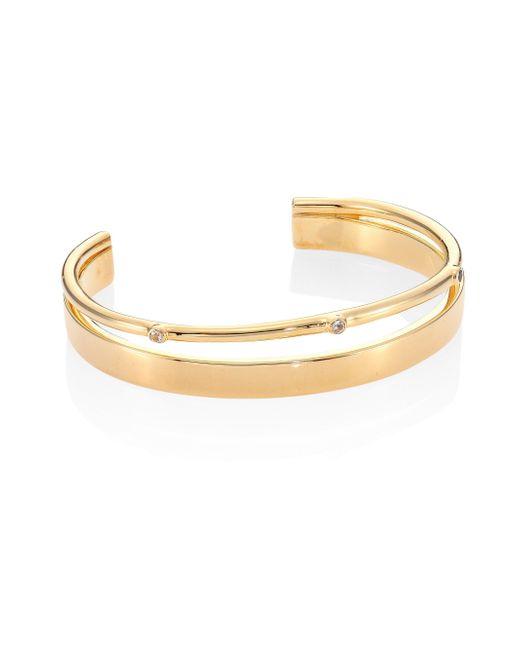 Elizabeth and James | Metallic Maxwell White Topaz Cuff Bracelet | Lyst
