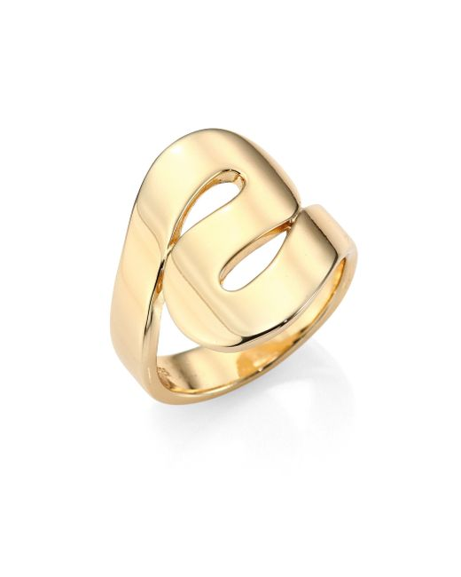 Elizabeth and James   Metallic Arcadia Ring   Lyst