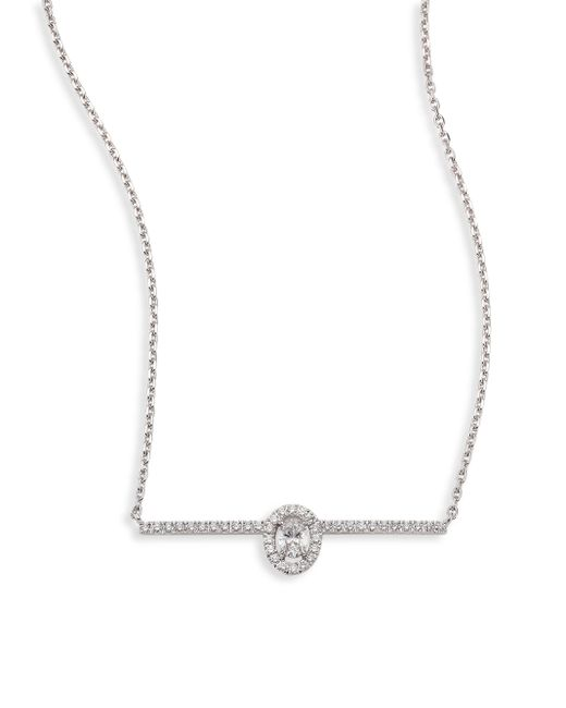 Messika | Metallic Glam'azone Pave Diamond & 18k White Gold Necklace | Lyst
