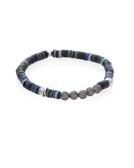 Tateossian | Blue Seychelles Mesh Bracelet | Lyst