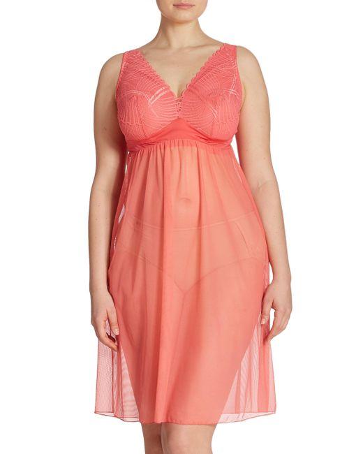 Cosabella | Pink Plus Minoa Lace Babydoll | Lyst