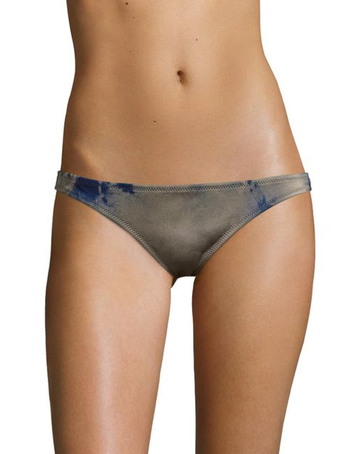 Made By Dawn | Multicolor Coral Tie-dyed Basic Bikini Bottom | Lyst