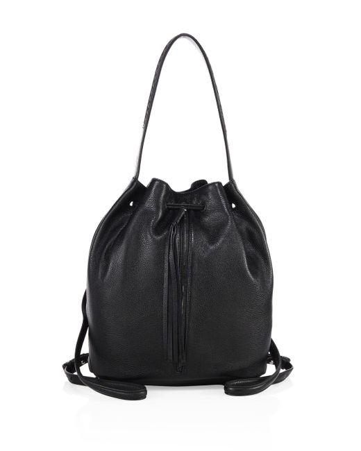 Elizabeth and James | Black Finley Sling Leather Bucket Bag | Lyst