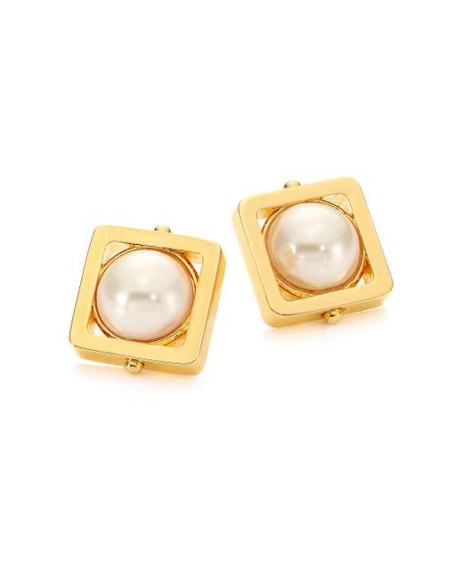 Lele Sadoughi | Metallic Caged Stone Stud Earrings | Lyst