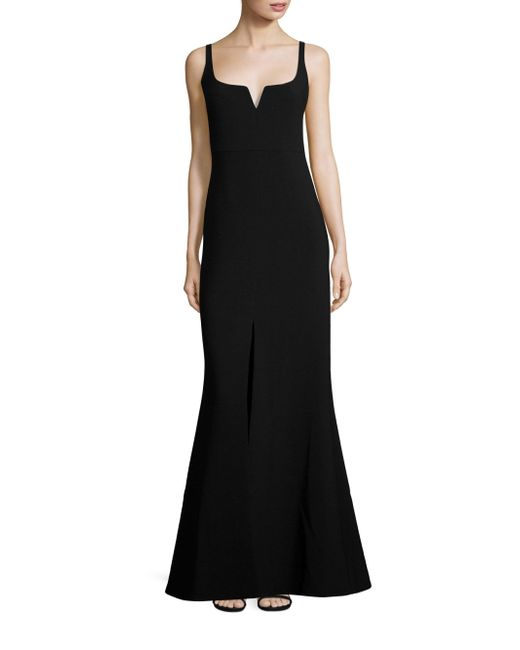 Likely | Black Constance Slit Gown | Lyst