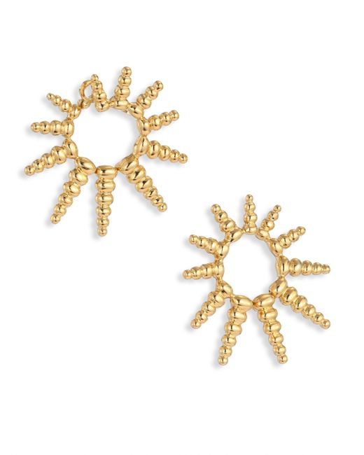 Nikos Koulis   Metallic Gold Starburst Earrings   Lyst