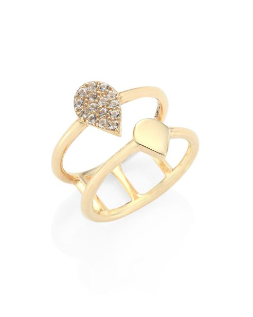 Elizabeth and James | Metallic Caleta White Topaz Ring | Lyst