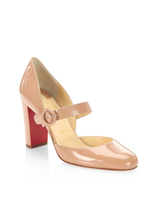 Christian Louboutin | Multicolor Miss Kawa 85 Patent Leather Mary Jane Block Heel Pumps | Lyst