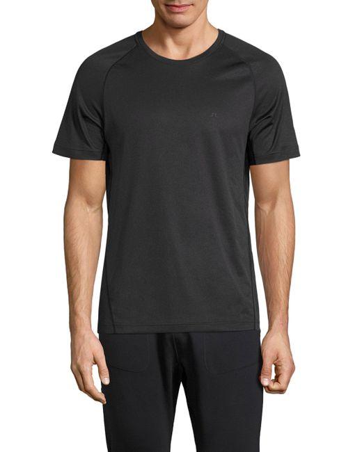 J.Lindeberg   Black Active Round Neck T-shirt for Men   Lyst