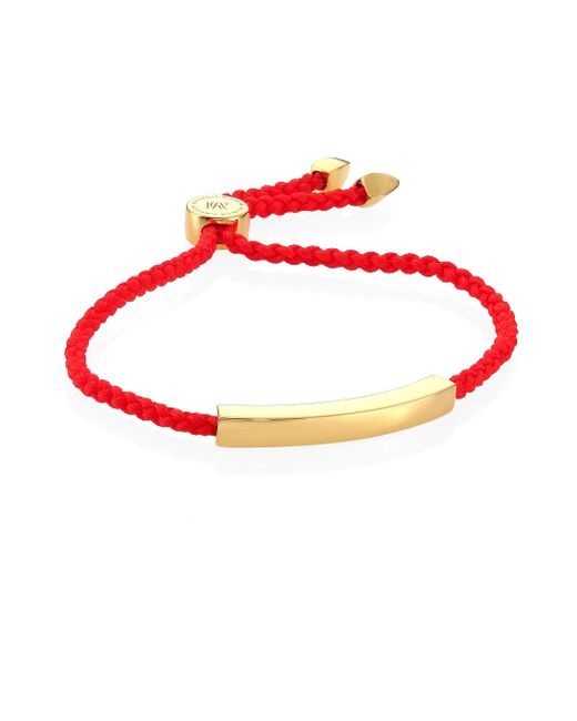 Monica Vinader   Multicolor Linear Bead Friendship Bracelet/coral   Lyst