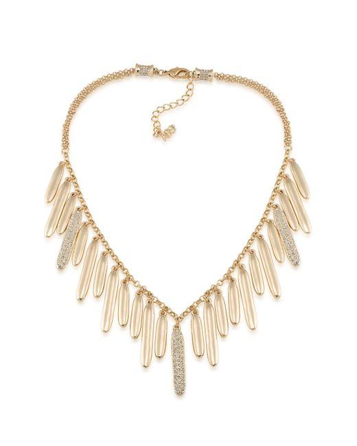 ABS By Allen Schwartz   Metallic Venice Beach Pave Drop Necklace   Lyst