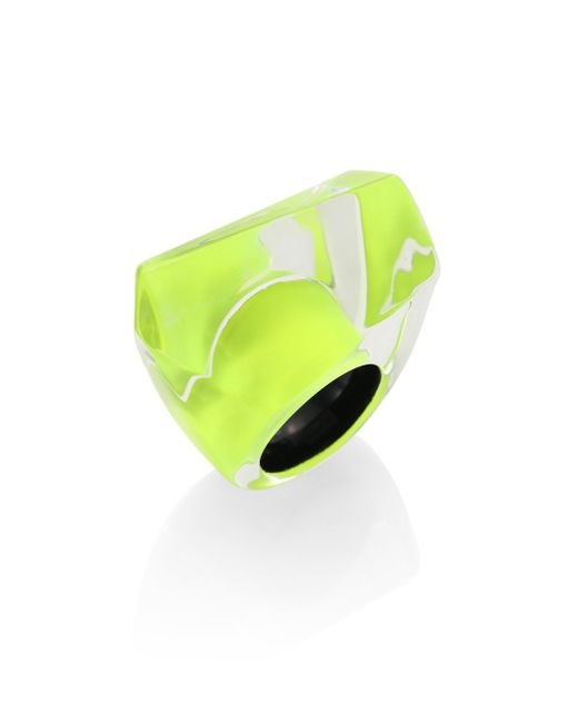 Alexis Bittar | Yellow Lucite Faceted Cocktail Ring | Lyst