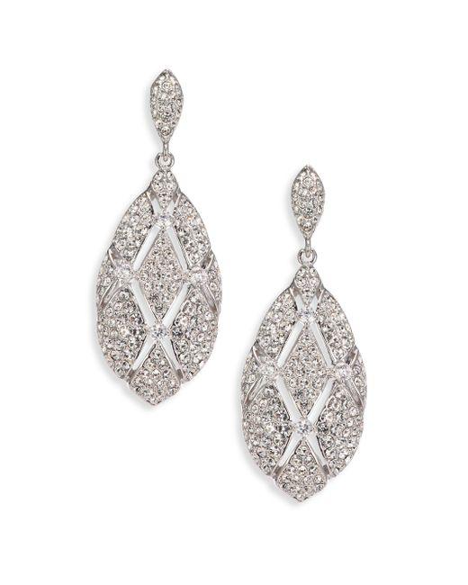 Adriana Orsini | Metallic Naga Pave Drop Earrings | Lyst