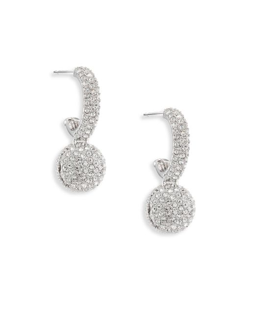Adriana Orsini | Metallic Pave Ball Small Hoops Earrings/0.75 | Lyst