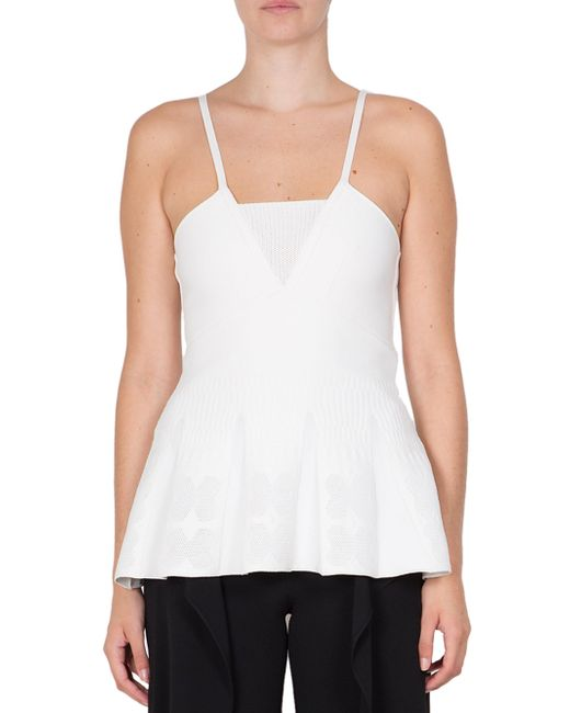 Roland Mouret | White Turing Sleeveless Top | Lyst