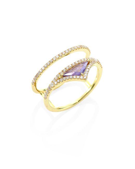 Meira T   Metallic Diamond, Opal & 14k Yellow Gold Ring   Lyst
