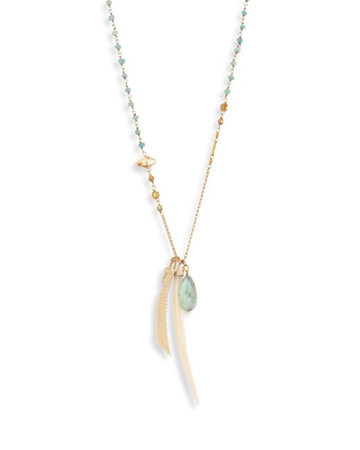Chan Luu | Long Semi-precious Green Mix Pendant Necklace | Lyst