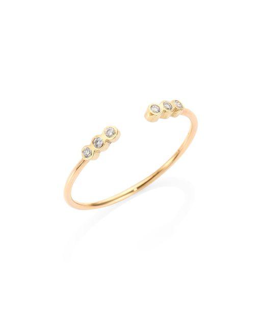 Zoe Chicco   Metallic Diamond & 14k Yellow Gold Ring   Lyst