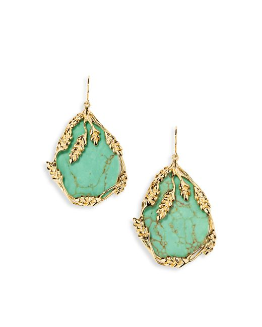 Aurelie Bidermann   Blue Francoise Turquouise Drop Earrings   Lyst