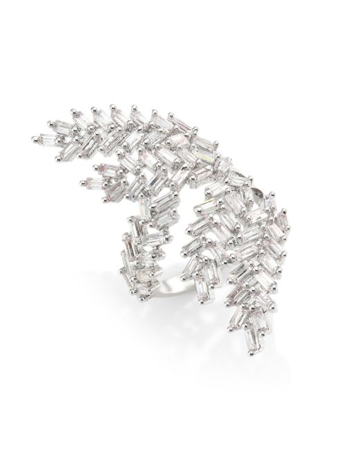 Fallon | Metallic Monarch Deco Fern Ring | Lyst