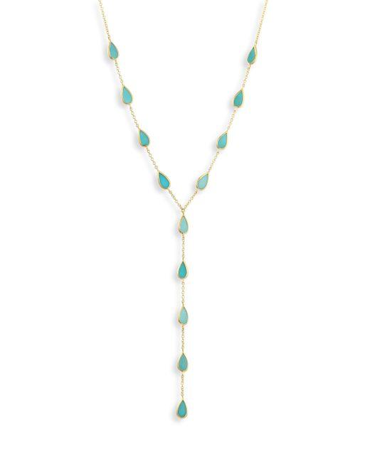 Ippolita | Metallic 18k Polished Rock Candy Turquoise Lariat Necklace | Lyst