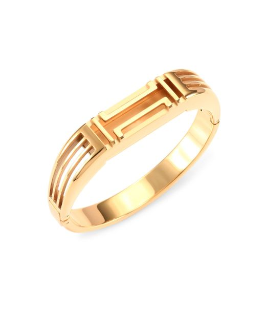 Tory Burch | X Fitbit Goldtone Metallic Bangle | Lyst