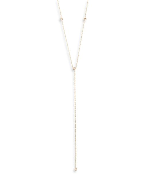 Zoe Chicco | Metallic Diamond & 14k Yellow Gold Eye Short Lariat Necklace | Lyst