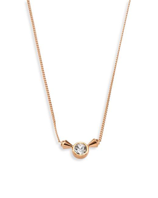 Vita Fede | Metallic Titan Solitaire Crystal Pendant Necklace | Lyst