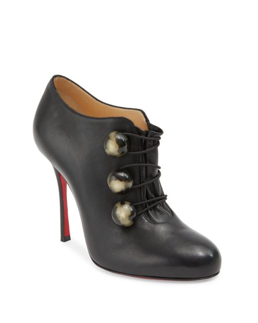 Christian Louboutin | Black Bootoni Ml 100 Leather Booties | Lyst